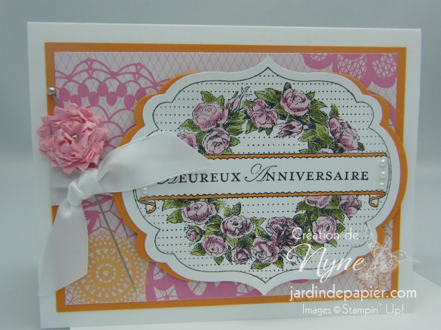 Stampin'up, carte, art floral