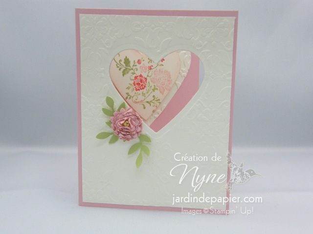 Stampin'UP, carte, St-Valentin