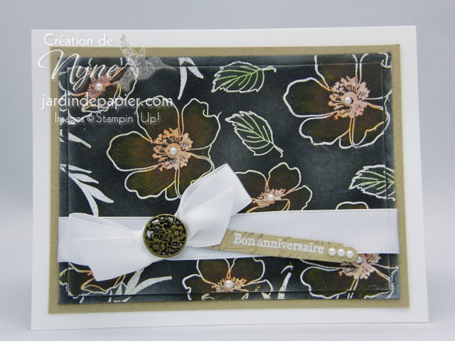 Stampin'UP, carte, Fabulous florest