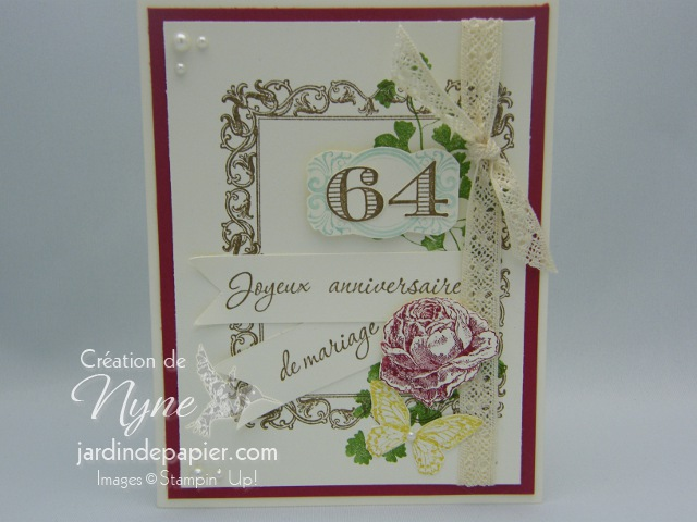 Stampin'UP, Papaya Collage, carte, anniversaire mariage
