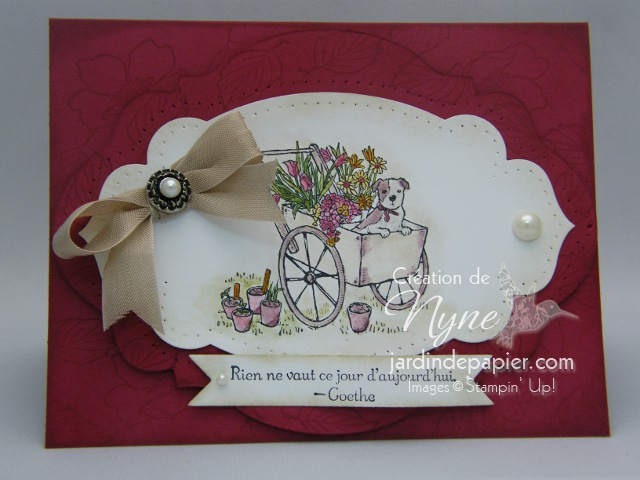 Stampin'UP, carte, Jardin de papier