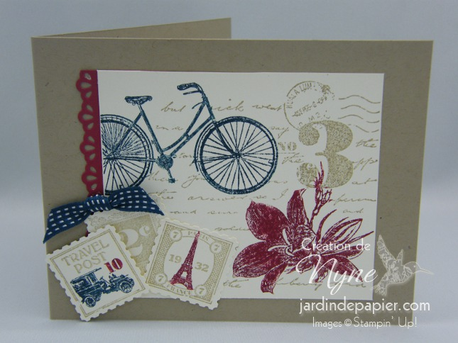 Post due, Stampin'UP, carte