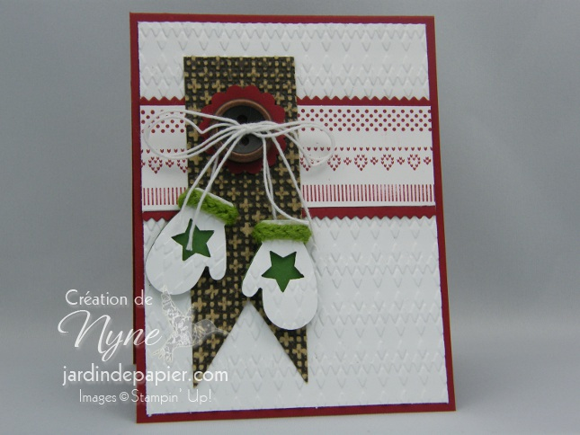 Make a mitten, Stampin'UP, carte, Noël