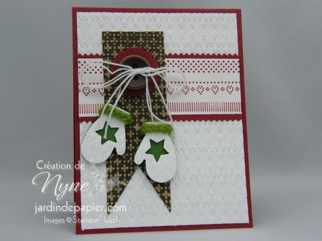 Make a mitten, Stampin'UP, carte, Noël
