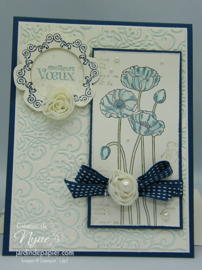 Pleasant poppies, Stampin'UP, Galon de fleurs