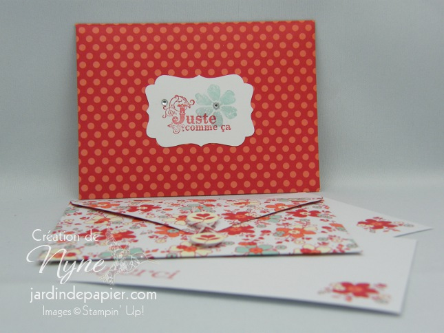 Simply Sent Tendrement Vôtre, Stampin'UP, Jardindepapier.com