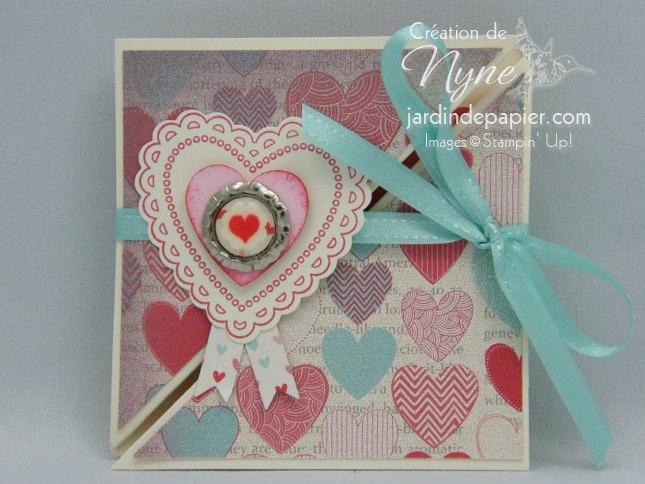 Stampin'UP, Hearts a flutter, création de carte, jardin de papier
