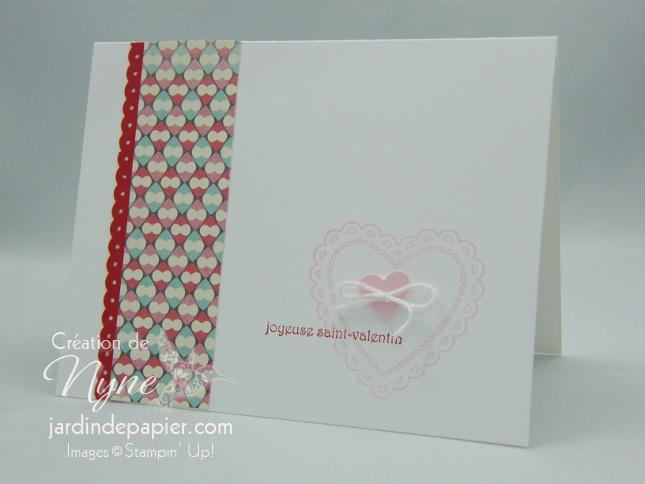 Stampin UP, Jardin de papier, St-Valentin, Hearts a flutter