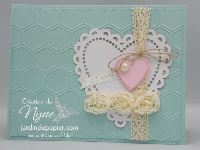 Stampin'UP, jardin de papier, Carte St-Valentin