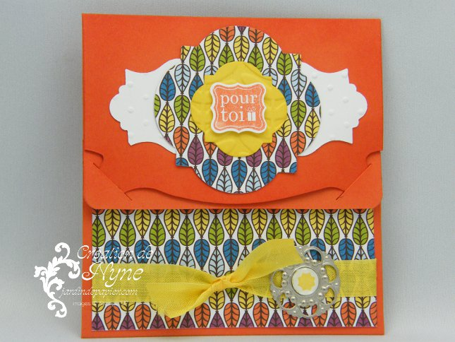 carte cadeau Pop'n Cuts, Stampin UP