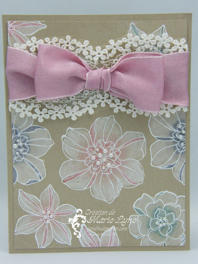 Secret Garden, Stampin UP, Jardin de papier