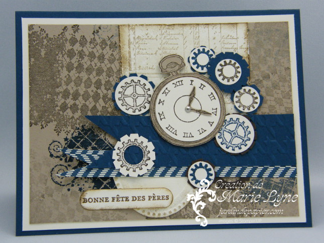 Clockworks, Stampin UP, jardin de papier