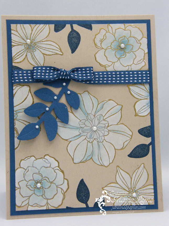 Secret garden, création de cartes, STampin UP, Jardin de papier