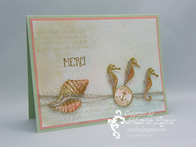 By the Tide, Stampin'UP!, Jardin de papier
