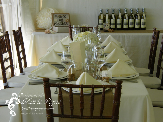 mariage, décoration, stampin'UP!