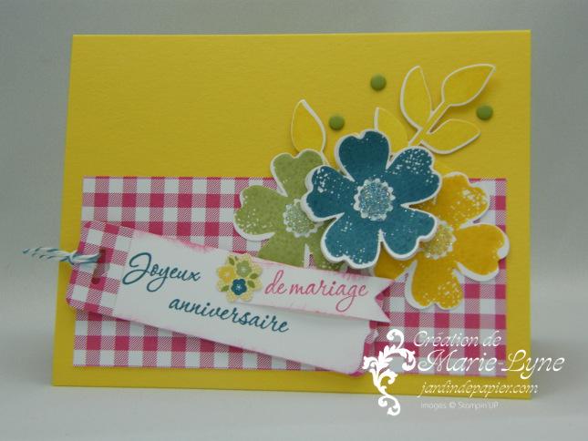Stampin'UP!, Flower Shop, Papier Vichy, Jardin de papier