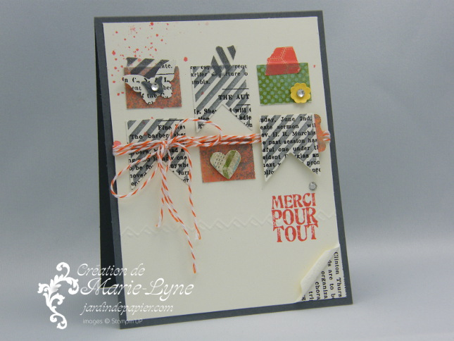 Hearts a flutter, this and that, jardin de papier, Stampin'UP!, création de carte