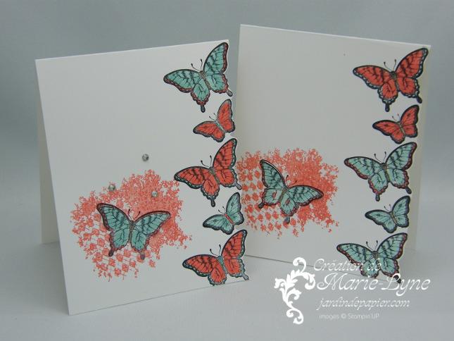 Papillon pot pourri, Stampin'UP!, création d'une carte simple et rapide