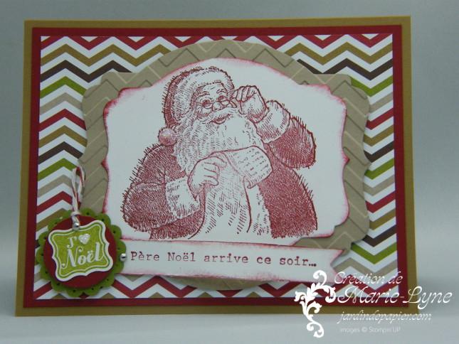 Liste sans fin, Santa's List, Stampin'UP!, Jardin de papier, création de carte