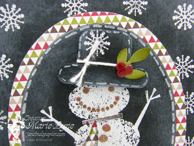 carte de Noël, Snow day, Stampin'UP!, technique du tableau noir