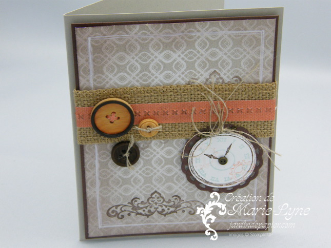 Clockworks, Stampin'UP!, Temps frisquet, carte masculine, création de cartes