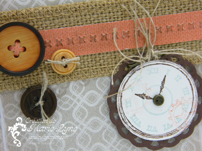 Clockworks, temps frisquet, Stampin'UP, création de carte, carte masculine