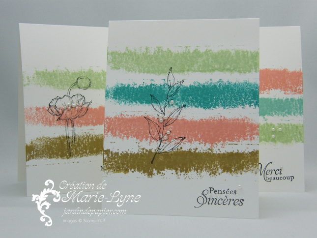 Simples esquisses, Stampin'UP!, Jardin de papier, carte simple et facile, création de carte