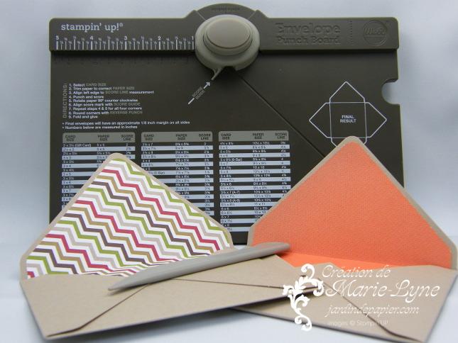 Stampin'UP!, Jardin de papier, Enveloppe pour pochette à poinçonner