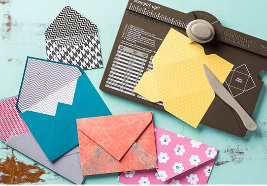 Enveloppe pour pochette à poinçonner, Stampin'UP!, jardin de papier