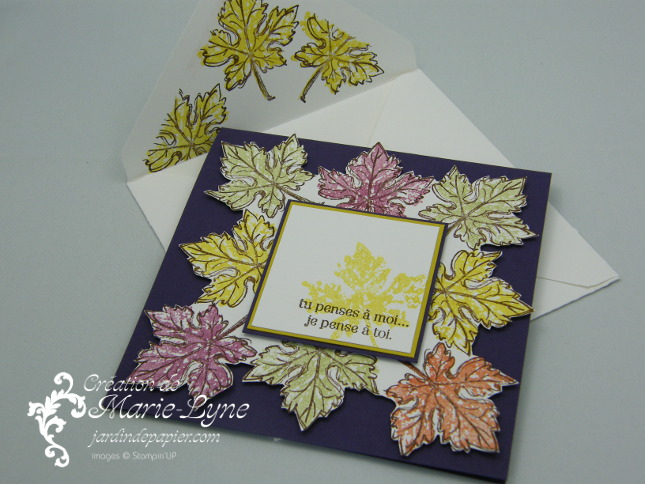 Gently Falling, Stampin'UP!, Jardin de papier, création de cartes