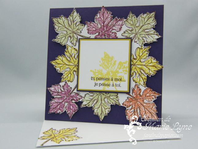 Gently Falling, Stampin'UP!, jardin de papier. création de carte