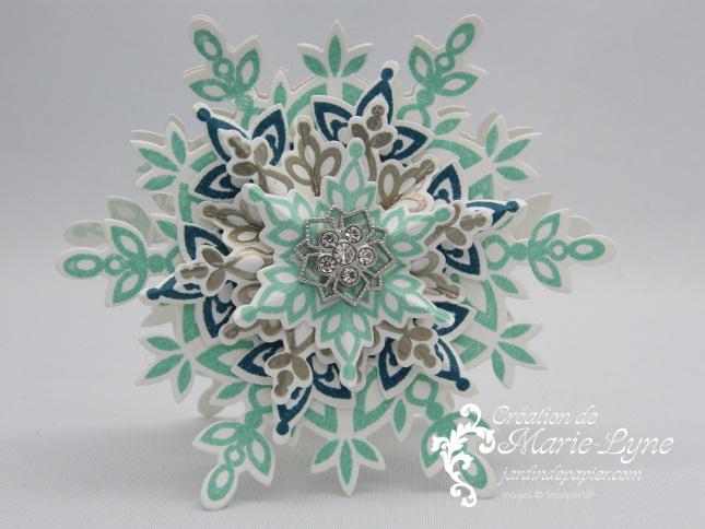 Jolis flocons, Festive Flurry, Stampin'UP!, Création de cartes, Jardin de papier