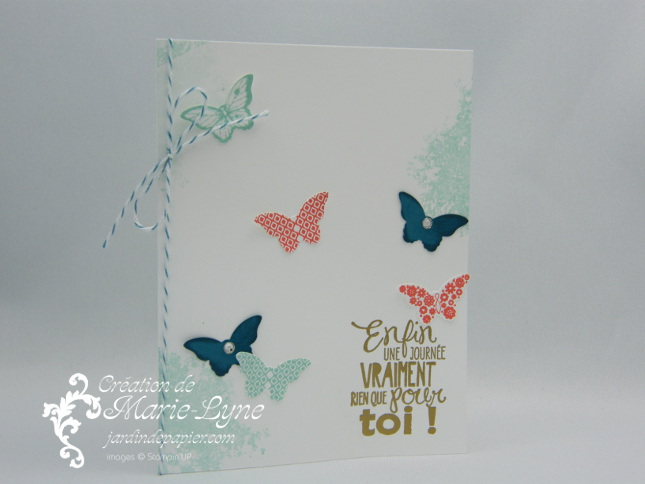 Lot Papillon, Perforatrice Bitty, Papillon Potpourri, Promotion Stampin'UP!, jardin de papier