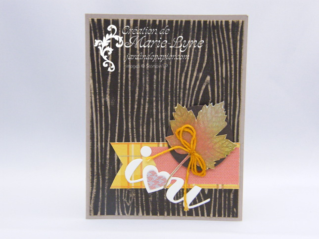 Magnificent Maple, Stampin'UP!, création de cartes, Jardin de papier, Club d'hôtesses