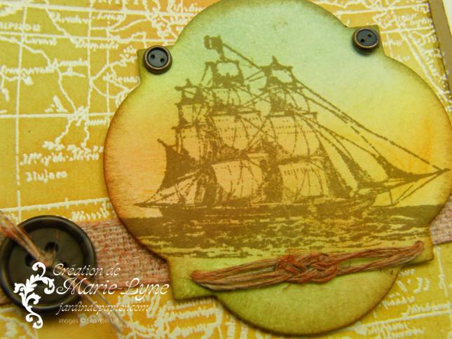 World map, Stampin'UP!, The Open Sea, Jardin de papier