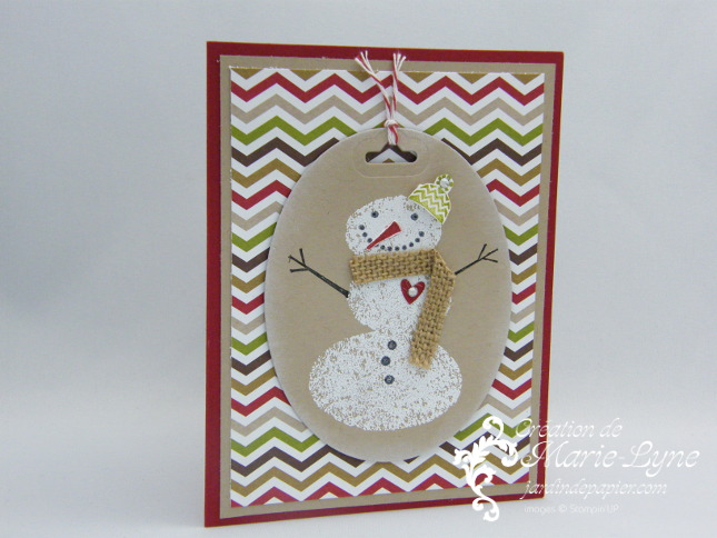 Snow Day, Stampin'UP!, jardin de papier, étampes, Noël