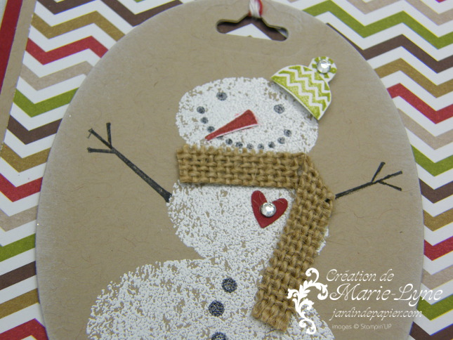 Snow Day, Stampin'UP!, carte de Noël, Jardin de papier