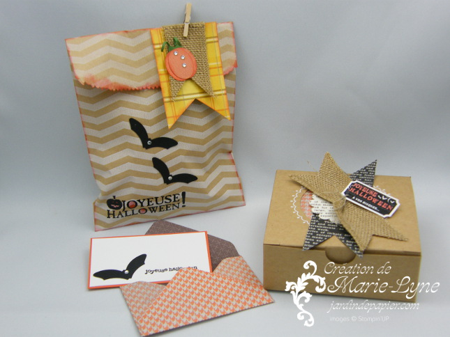 Halloween, Stampin'UP!, Emballage, Jardin de papier