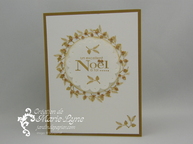 Lovely as a tree, Stampin'UP!, Jardin de papier, couronne de Noël