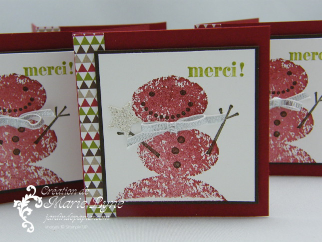 snowday, mini carte, Stampin'UP!, Jardin de papier, carte de Noël