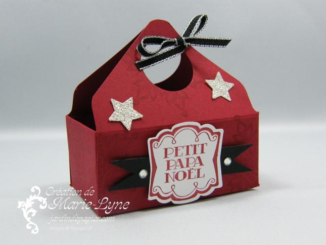 Noël, petit panier de Noël, Stampin'UP!, jardin de papier, planche de marquage Insta Enveloppe