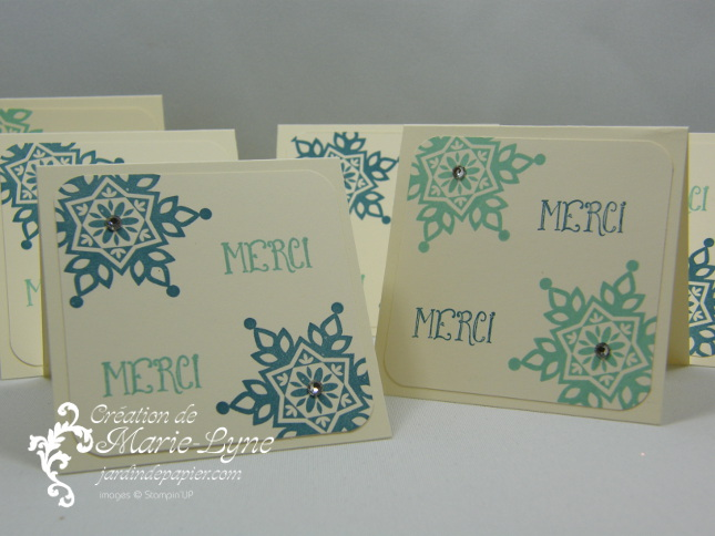 Festive flurry, mini-carte, Noël, Stampin'UP!, jardin de papier