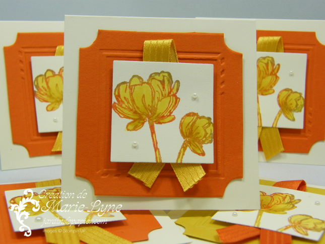 Mini cartes StampinUP