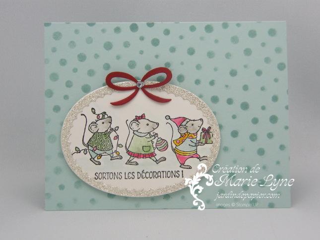 Cartes de Noël avec les souris de Stampin'UP!