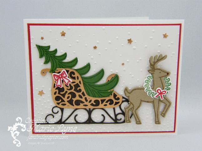 Traîneau de Noël avec Stampin'UP!
