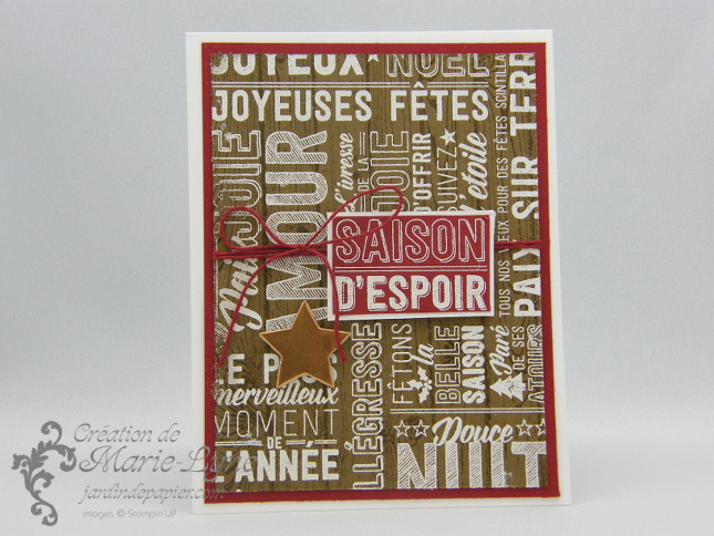 Carte de Noël – Simple et rapide