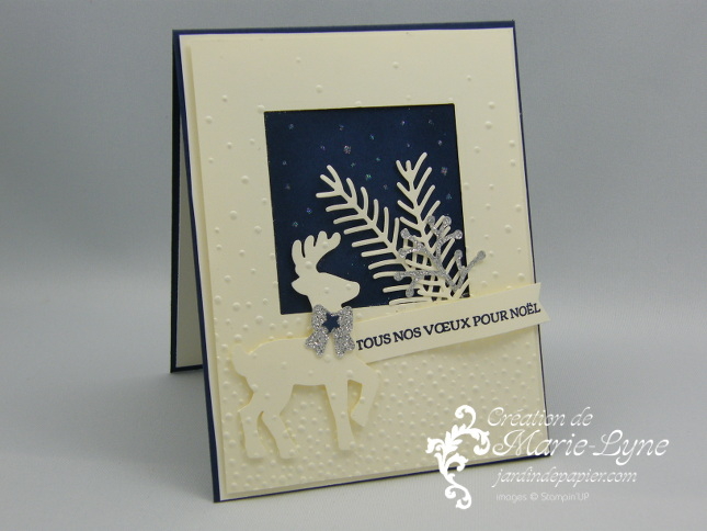 Carte de Noël et renne – Stampin'UP!