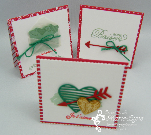 Mini-carte St-Valentin – Stampin'UP!