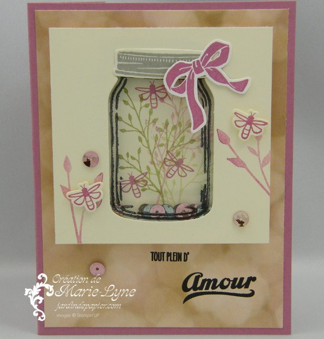 Carte Shaker – Stampin'UP!