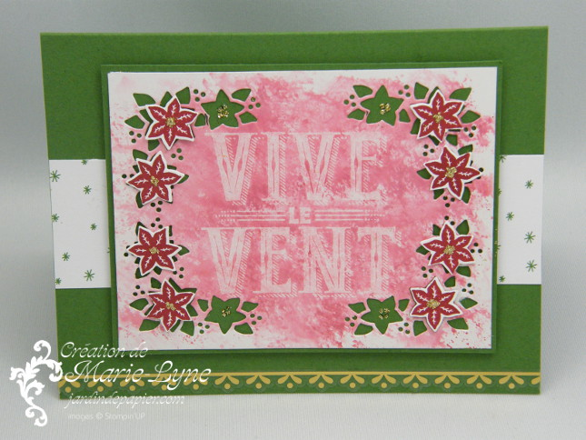 Vive le vent Cantiques Stampin'UP!